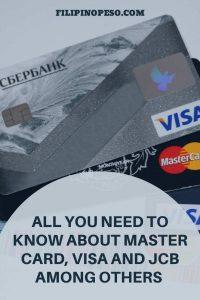 Master Card and VISA cards